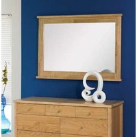 Image of: Atlantis Pale Oak Landscape Mirror - Oak Mirrors