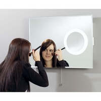 Image of: Backlit Bathroom Wall Mirror with Magnification Area - Mirrors