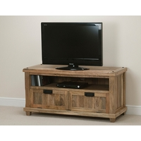 Image of: Baku Light Solid Mango TV + DVD Cabinet with Drop Down Door - TV Cabinets