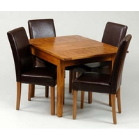 Image of: Dining Table - Balint Small Extending Dining Set and 4 Chairs in Oak - Dining Tables