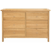 Image of: Balmain Oak 6 Drawer Wide Chest - Oak Chest Of Drawers