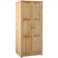 Image of: Balmoral 2 Door Wardrobe Honey Finish Pine - Wardrobes