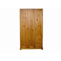Image of: Baltic 3 Door - 3 Drawer Wardrobe Small Single - Wardrobes