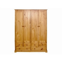 Image of: Baltic 4 Door - 6 Drawer Wardrobe Small Single - Wardrobes
