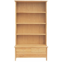 Image of: Bookcase - Barry Oak 2 Piece Bookcase and Coffee Table - Bookcases