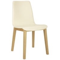 Image of: Bethan Gray John Lewis Noah Leather Upholstered Dining Chairs, Cream - Dining Chairs