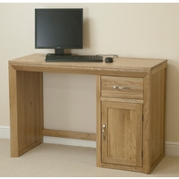 Image of: Bevel Solid Oak Computer Desk - Oak Desks - Computer Desk - Desks