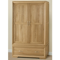 Image of: Bevel Solid Oak Wardrobe - Oak Wardrobes