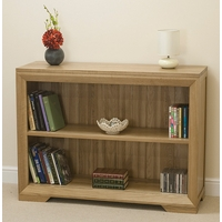 Image of: Bookcase - Bevel Solid Oak Wide Bookcase - Bookcases