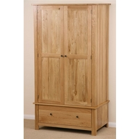 Image of: Cairo Solid Oak Double Wardrobe - Oak Wardrobes