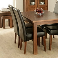Image of: Calza Oak Upholstered Dining Chair in Brown - Oak Dining Chairs
