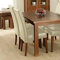 Image of: Calza Oak Upholstered Dining Chair in Cream - Oak Dining Chairs