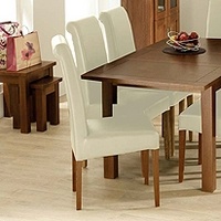 Image of: Calza Oak Upholstered Roll Back Dining Chair in Cream - Oak Dining Chairs
