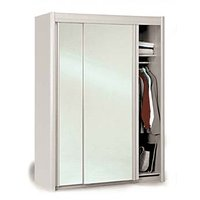 Image of: Carlene Sliding Mirrored Wardrobe in White - Wardrobes