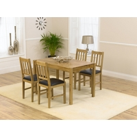Image of: Casa Oak Dining Table and 4 Casa Oak Dining Chairs - Oak Dining Tables