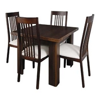 Image of: Caxton Furniture - Royale Butterfly Extending Dining Set and Slatted Back Chairs