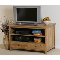 Image of: Oak TV Cabinet - Chaucer Solid Oak TV + DVD Cabinet - Cabinets