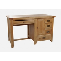 Image of: Computer Desk - Chiltern Grand Oak Computer Desk - Oak Desk - Desks