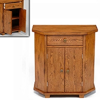 Image of: Greenham Oak Small Cabinet - Oak TV Cabinet - Cabinets