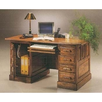 Image of: Computer Desk - Colonial Oak Computer Desk - Computer Desks