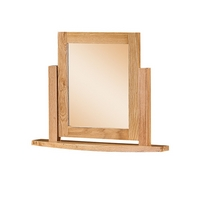 Image of: Solid Oak Mirror - Dovedale Solid Oak Swivel Mirror - Mirrors