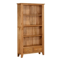 Image of: Bookcase - Dovedale Solid Oak Tall Bookcase - Bookcases