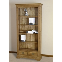 Image of: Bookcase - French Farmhouse Solid Oak Large Bookcase - Bookcases