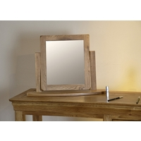 Image of: Mirror - French Farmhouse Solid Oak Swivel Mirror - Mirrors