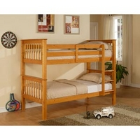 Image of: Limelight Pavo 3FT Single Bunk Bed, Honey Pine - Single Beds