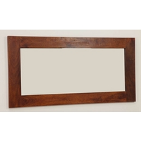 Image of: Mirror with Teak Oiled Solid Mango Frame - 1200mm x 600mm