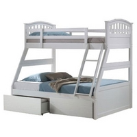 Image of: Artisan White Three Sleeper Bunk Bed - Bunk Beds