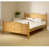 Image of: Friendship Mill - Boston 4FT Sml Double Bedstead High Footend - Double Beds