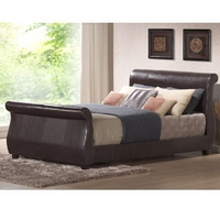Image of: Harmony Winchester 4FT 6 Double Faux Leather Bed Brown - Double Beds
