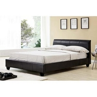 Image of: Limelight Galaxy 3FT Single Leather Bedstead, Dark Brown - Single Beds