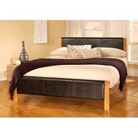 Image of: Limelight Mira 3FT Single Leather Bedstead - Single Beds