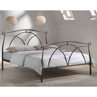 Image of: Limelight Omega 3FT Single Metal Bedstead, Black - Single Beds