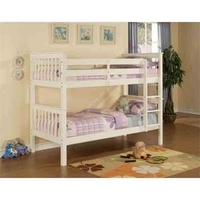 Image of: Limelight Pavo 3FT Single Bunk Bed, White - Single Beds