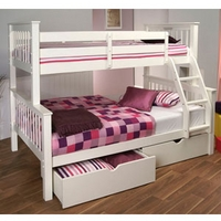 Image of: Limelight Pavo White Three Sleeper Bunk Bed - Bunk Beds