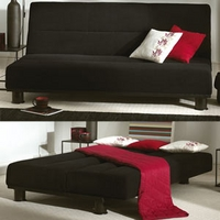 Image of: Limelight Triton Sofa Bed in Black - Sofa Beds
