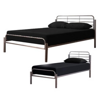 Image of: LPD Alpha 3FT Single Metal Bedstead - Single Beds