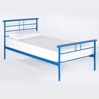 Image of: LPD Gemini Blue 3FT Single Metal Bedstead - Single Beds