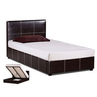 Image of: LPD Lyon 3FT Single Leather Ottoman Bedstead - Single Beds