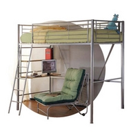 Image of: LPD Sit and Sleep 3FT Single Metal Bunk Bed and Futon