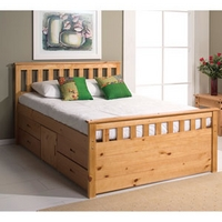 Image of: Star Collection Ferrara 5FT Kingsize Captains Bed - King Size Beds