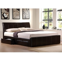 Image of: Star Collection Madison 4FT and Double Faux Leather Bed - Double Beds