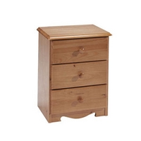 Image of: Star Collection Verona 3 Drawer Bedside Table - Bedside Tables