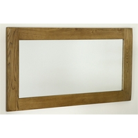 Image of: Rustic Solid Oak Frame Tall Mirror - 1200mm x 600mm