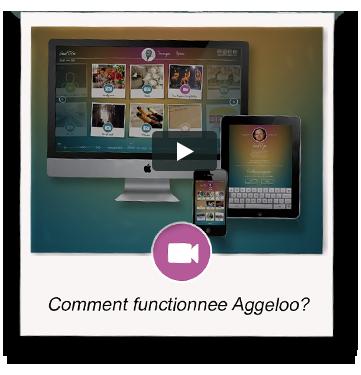 Aggeloo werkt heel simpel. Alle herinneringen worden weergegeven op een besloten pagina in een tijdslijn.