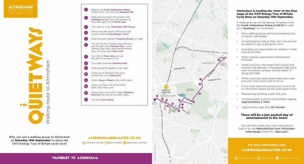Quietways - walking routes to Altrincham