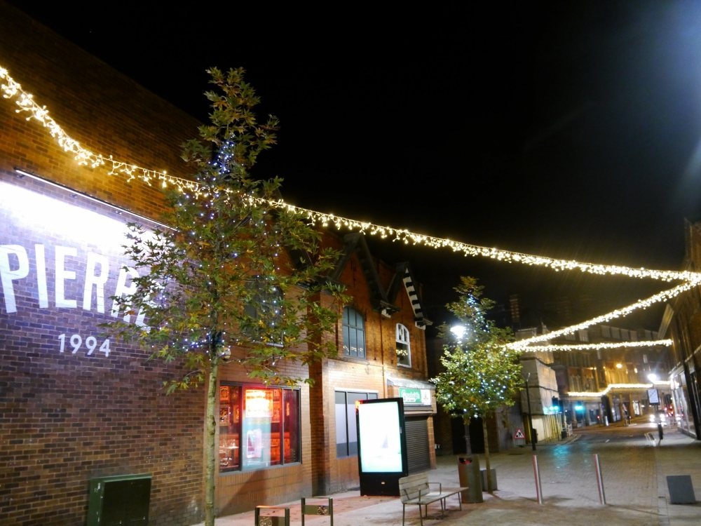 Enhanced Christmas displays light up Altrincham town centre